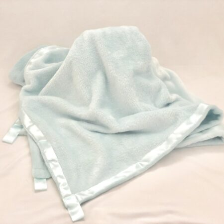 Plush Mint Green Baby Blanket - Pic