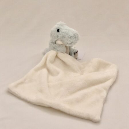 White Dou-Dou Blanket with Green Croc-A Saurus