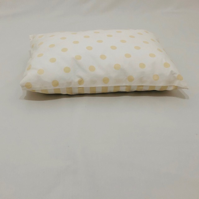 BEIGE AND WHITE STRIPE & POLKA DOT BABY PILLOW SLIP