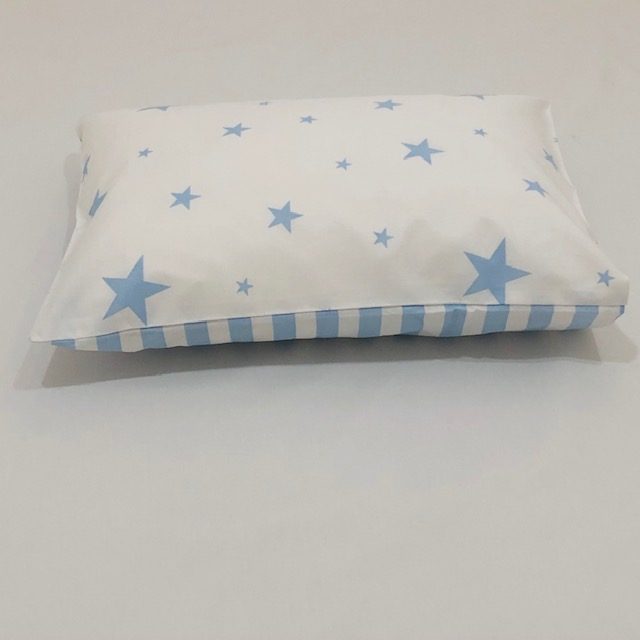 BLUE AND WHITE STARS & STRIPES BABY PILLOW SLIP