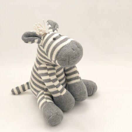 Zebby Zebra Knit 20cm