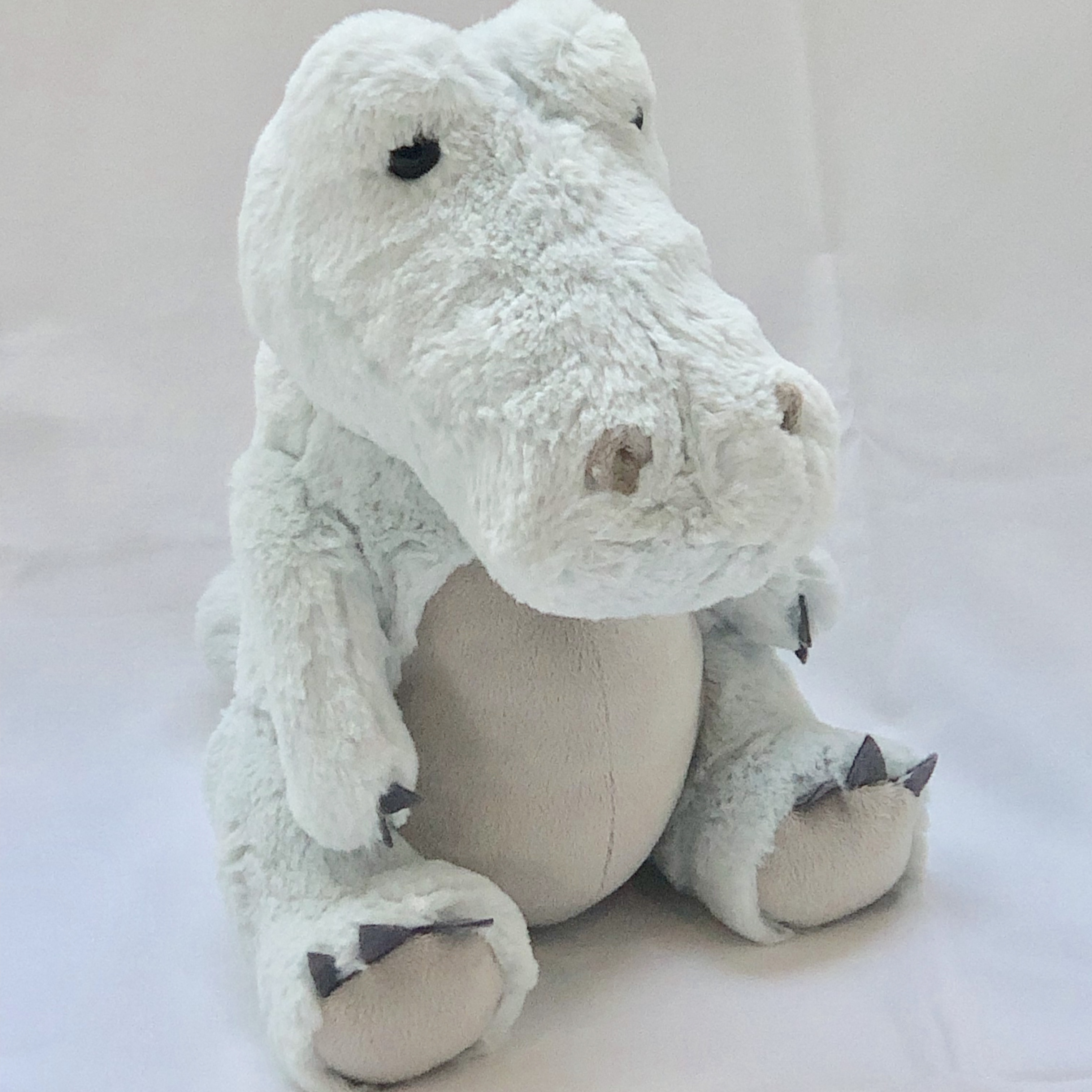 CROCODILE PLUSH TOY IN MINT GREEN 30CM