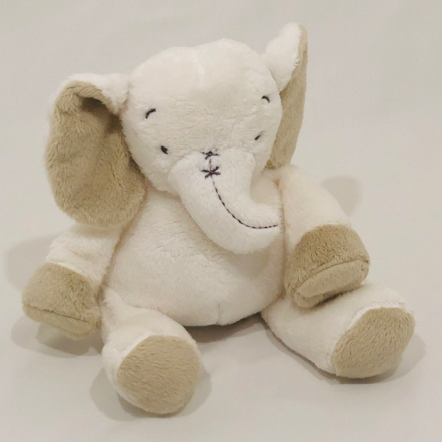 WHITE ELEPHANT PLUSH TOY