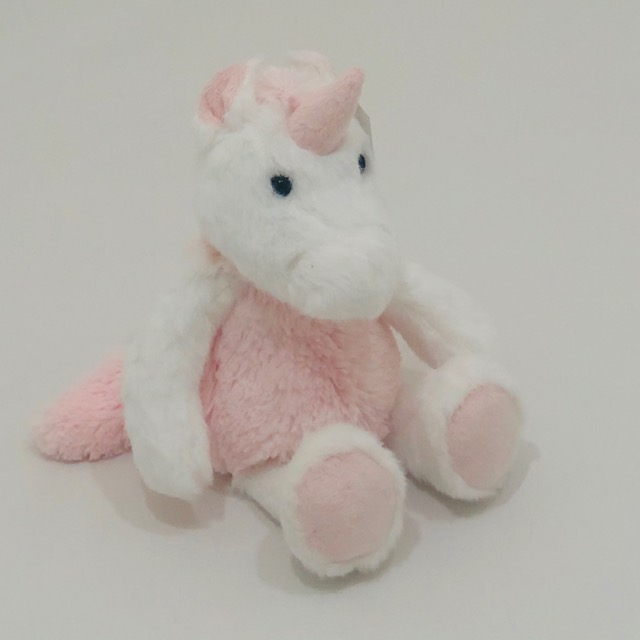 PINK AND WHITE MAGICAL UNICORN PLUSH TOY