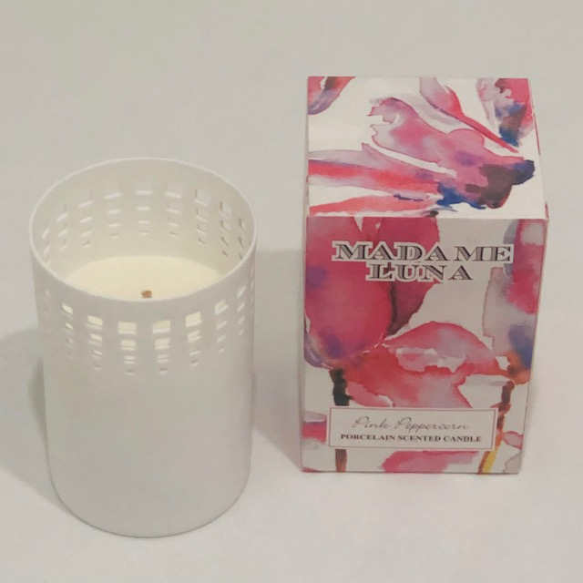 PORCELAIN PINK PEPPERCORN SCENTED CANDLE