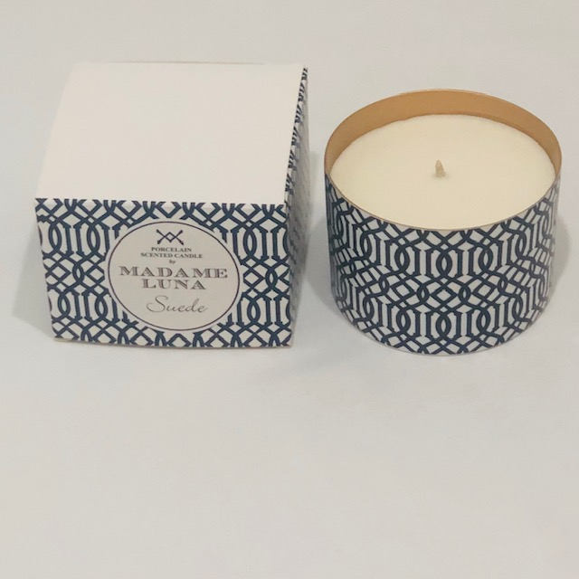 PORCELAIN SUEDE SCENTED CANDLE