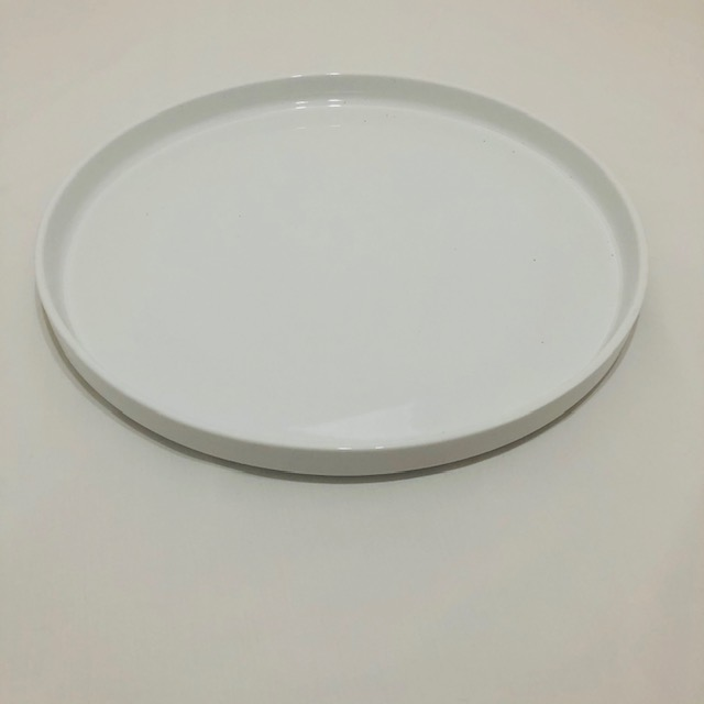 LARGE WHITE ROUND PLATE WITH LOW LIP