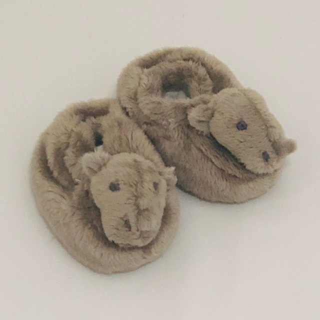 FLUFFY SOFT RHINO SLIPPERS
