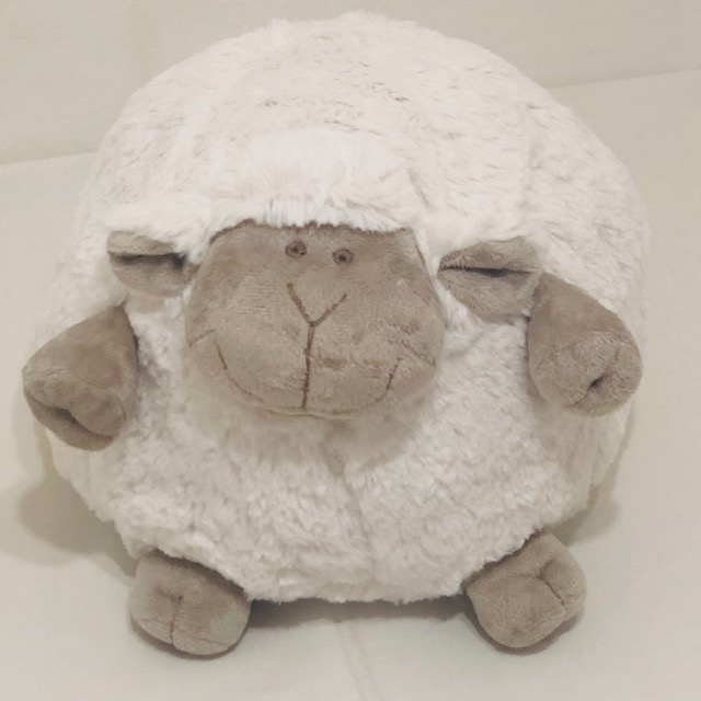 SMALL WHITE SHEEP WITH BEIGE FACE