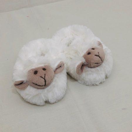 WHITE CHUBBY SHEEP SLIPPERS