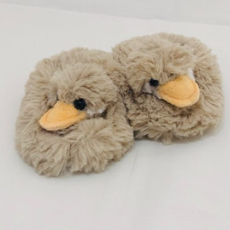 FLUFFY BABY DUCK SLIPPERS