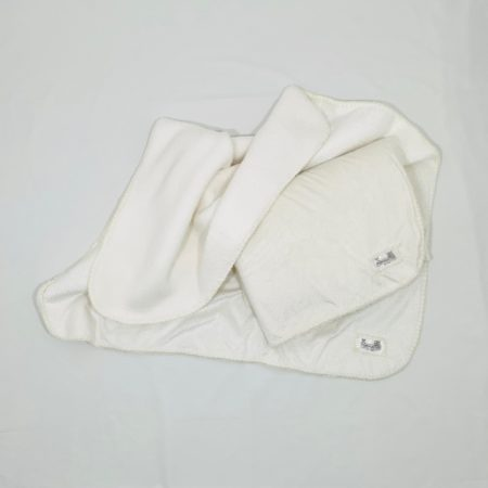 OFF-WHITE LUXURY FLEECE BABY BLANKET WITH GOLD DOTS
