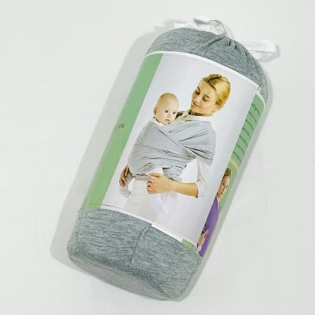 GENTLE GREY COTTON BABY WRAP