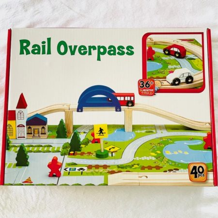 RAIL OVERPASS WOODEN TRAIN SET