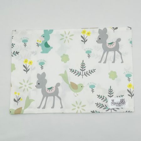 100% COTTON BABY PILLOW SLIP WITH CUTE BABY PASTEL ANIMALS
