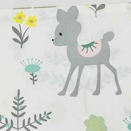 100% COTTON BLANKET WITH BAMBI & FRIENDS AMONGST FLOWERS